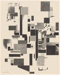 Untitled, no. 2 of 6 from the portfolio Merz 3. Kurt Schwitters 6 Lithos. Merz Mappe. Erste Mappe des Merzverlages (Merz 3. Kurt Schwitters 6 Lithos. Merz Portfolio. First Portfolio of the Merz Publisher)