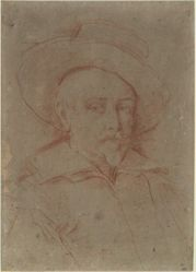 Self-Portrait: study for self-portrait in the Uffizi Gallery, Florence