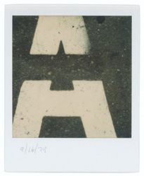 "Untitled [Detail of Street Lettering: ""A""]"
