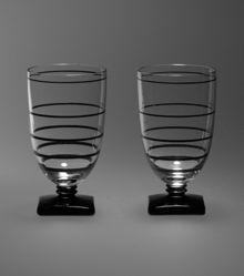 """Pair of Tumbler Glasses, """"Club"""" Pattern"""