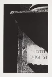 Untitled (Stele with ISTIT LUIGI ST ) 1980, from the portfolio Chiaroscuro, 1982