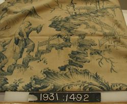 "Length of printed linen, ""Chinoiserie"""