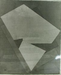 "Photograph of Jacques Villon's ""Color Perspective,"" 1922, oil [MoMA] -- from Katherine S. Dreier's private collection"