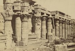 Philae: Colonnade with chapel of Nectenebo I