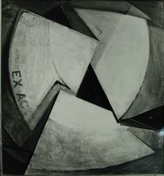 "Photograph of John Covert's ""Ex Act,"" 1919, oil [MoMA] -- from Katherine S. Dreier's private collection"