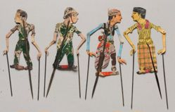 Shadow Puppet (Wayang Kulit) of an Indonesian Young Man or Pemuda, from set Wayang Perjuangan or Wayang Revolusi
