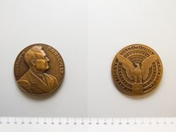 Bronze medal of the Inauguration of Franklin Delano Roosevelt