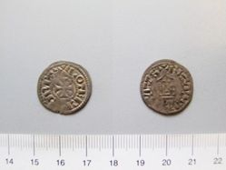Silver Denier of Lothair from Bourges