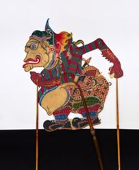 Shadow Puppet (Wayang Kulit) of Bagong or Gerubug