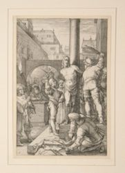 Flagellation of Christ, from The Passion, #6 in a series of 12 engravings
