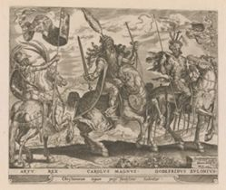 King Arthur, Charlemagne and Godfrey of Bouillon, #3  from The Nine Worthies