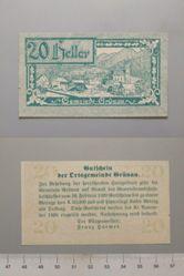 20 Heller from Grunau, Notgeld