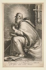 Saint in tattered clothing