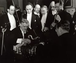Musicians and Chess Players, NY Philharmonics