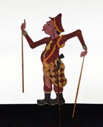 Shadow Puppet (Wayang Kulit) of a Policeman or Polisi