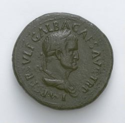 Sestertius from Rome with Galba, Emperor of Rome