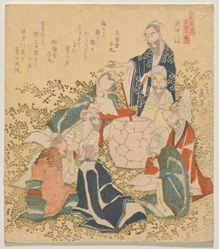Eight Drunken Immortals (Inchū hassen), from the series Ten Famous Numbers (Meisū jūban)