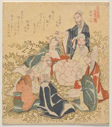 Eight Drunken Immortals (Inchū hassen), from the series Ten Famous Numbers (Meisū jūban)