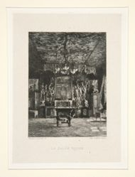 Le salon rouge (The Red Room), pl. 5 from the suite Chez Victor Hugo (Victor Hugo's House)