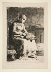 La Cardeuse (The Wool-Carder)