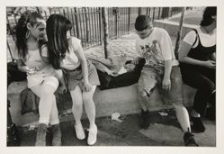 Teenagers with Teenage Mother and Child, Rodney Street Park, Brooklyn, NY, 1996