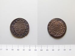 Silver 4 real piece of Philip III