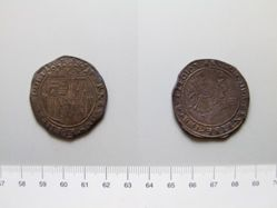 Four- real coin of Ferdinand II and Isabella from Seville