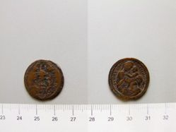 Quattrino of Tommaso Mercandetti; Pope Innocent XI from Gubbio