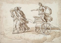 Diana in a Chariot Drawn by Two Women