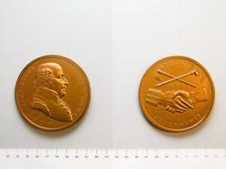 Bronze Medal of John Adams, reproduction