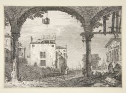 Le Portique a la lanterne (The Portico with the Lantern), from the series Vedute (Views)