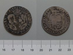 Silver Shilling of Philip and Mary
