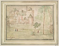 Recto: View of Castle Schagen Holland; Verso: View of St. Panaleon, Cologne