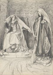 Rebecca and Rowena, illustration for Ivanhoe
