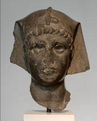 Head of a Pharoah (possibly Augustus)
