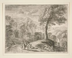 The Large Tree and the Cave, from the set The Flight into Egypt