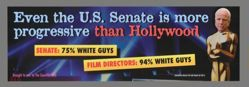Even the U.S. Senate is More Progressive Than Hollywood Update, from the Guerrilla Girls' Portfolio Compleat 2012–2016 Upgrade