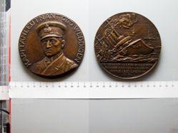 Bronze Medal from Germany of U-Boat Commander Otto Weddigen