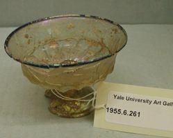 Calix Cup with fluted bowl and stand with conical navel