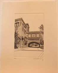 Chapel High from Intaglio Yale, Etchings 2008-2012
