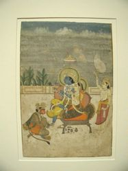 Rama and Sita Attended by Lakshmana and the Monkey King Hanuman