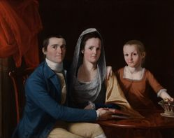 Jonathan Trumbull, Jr., Eunice Backus Trumbull, and Faith Trumbull (later Faith Trumbull Wadsworth) (1740–1809, LL.D. 1797; 1749–1826; 1769–1846)