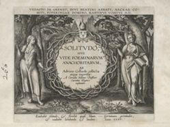 Solitudo Sive Vitae Foeminarum Anachoritarum (Female Hermits in Landscapes): Title page
