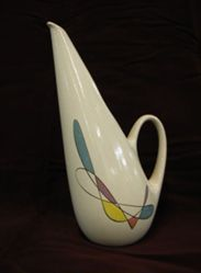 "Water Pitcher, ""Freeform"" Shape, ""California Mobile"" Pattern"