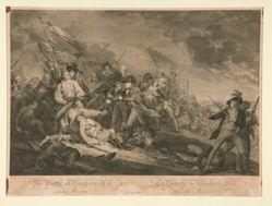 The Battle of Bunker's Hill near Boston