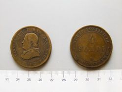 4 Soldi of Pope Pius IX from Rome