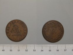RH Half Penny Token from Lower Canada