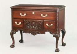 Lower case of a high chest of drawers