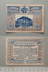 30 Heller from Aistersheim, issued 15 June 1920, redeemable 31 May 1921, Notgeld