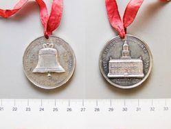 White Metal Medal for Philadelphia Exposition